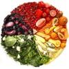 Colores de las frutas y verduras
