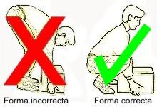 Cómo levantar un objeto pesado