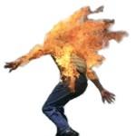 Método para apagar fuego de una persona