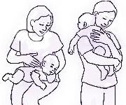Como sacar eructos a un bebé