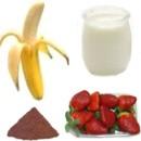 Nutrientes del batido de fresas y yogurt