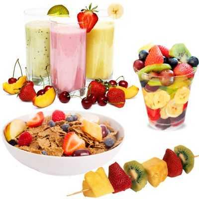 Comer variedad de frutas