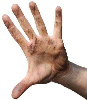 Las manos como medio de contaminación