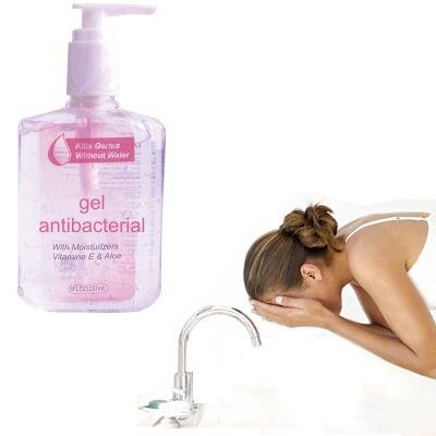 ¿Lavarse la cara con gel antibacterial?