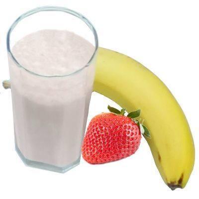 Propiedades del licuado de plátano con fresa