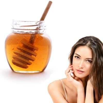 Miel en la cara