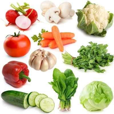 Nombre de vegetales más comunes