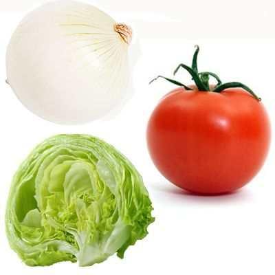 No engorda la ensalada de lechuga, tomate y cebolla