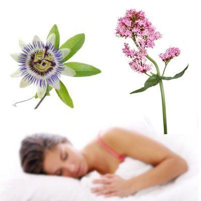 Valeriana y de la pasiflora para el sueño