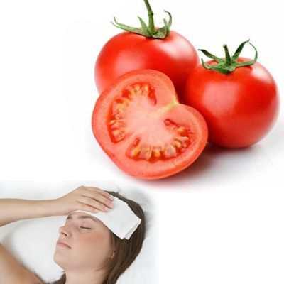 El tomate sirve para bajar la fiebre