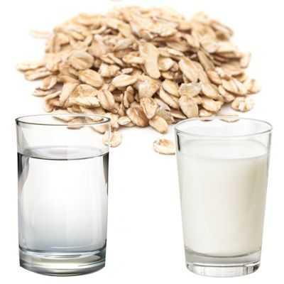 ¿Se toma la avena con agua o con leche?