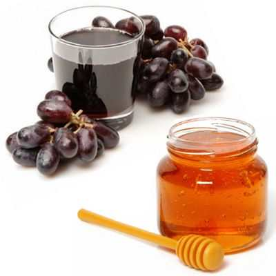 Propiedades del jugo de uva con miel de abeja