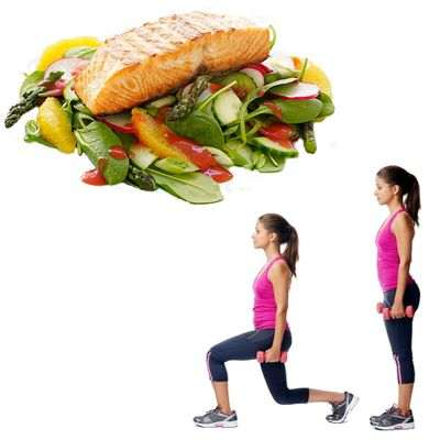 Comer sano y hacer ejercicio es bueno para la salud