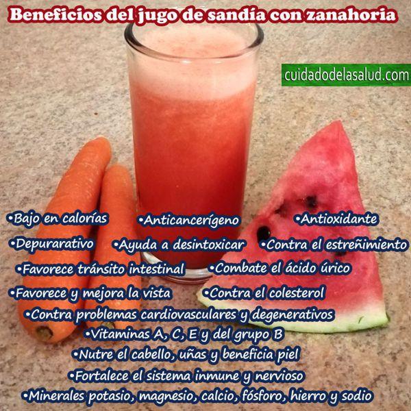 Beneficios del Jugo de Sandía con Zanahoria